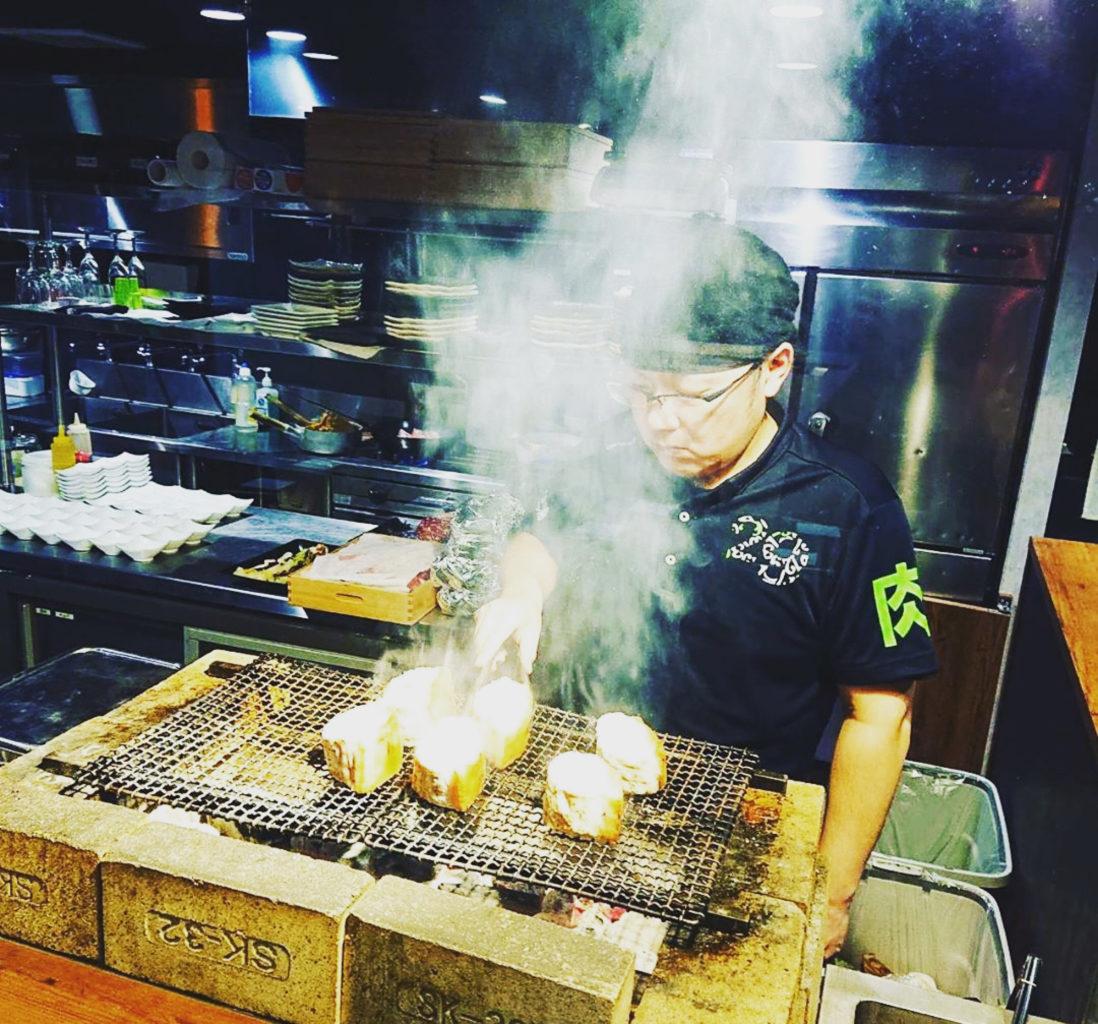 肉山富山の黒部名水ポーク 炭火焼き