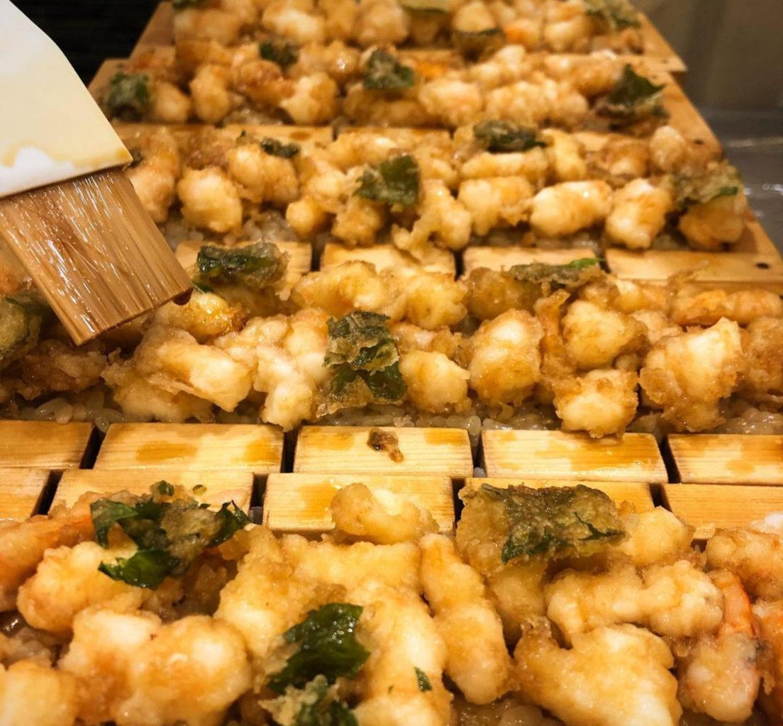 日本橋天丼金子半之助小矢部の押し寿司