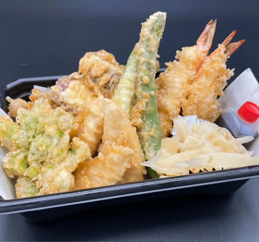 日本橋天丼金子半之助小矢部の春の天ぷら盛り合わせ