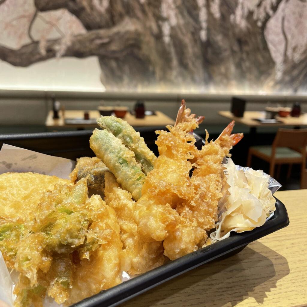 日本橋天丼金子半之助小矢部の春野菜天ぷら盛り合わせ